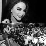 بالصور   ليال عبود و تظاهرة الحب في يحشوش