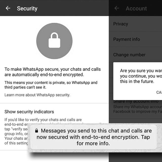 توضيح لكل مستخدمي الواتس اب حول ميزة التشفير