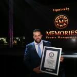 وائل جابر المدير التفيذي لشركة ميموريز افنتز يساهم بتنفيذ اطول جدار غرافيتي في رأس الخيمة