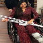 رغم الحادث والألم زوجة ماجد المصري حضرت الحفل في نيويورك وبقيت الى جانب زوجها