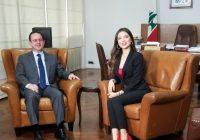 لماذا زارت ملكة جمال لبنان مايا رعيدي وزير السياحة أفيديس كيدانيان ؟