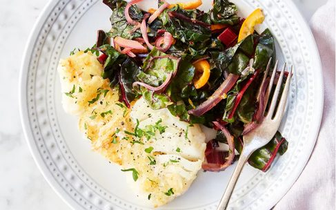 Pan-Fried Cod with Orange and Swiss Chard